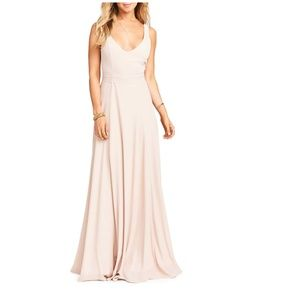 Show Me Your Mumu Jen Maxi Dress Dusty Blush